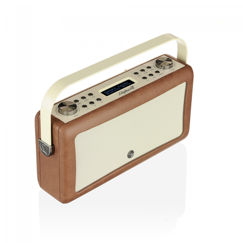 view quest hepburn mk ii dab radio mit bluetooth funktion braun. Black Bedroom Furniture Sets. Home Design Ideas