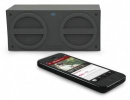 iHome iBT24 Bluetooth Mini-Speaker, wiederaufladbar, gummiert, grau – Bild 4