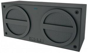 iHome iBT24 Bluetooth Mini-Speaker, wiederaufladbar, gummiert, grau – Bild 1