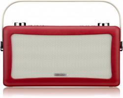 View Quest Hepburn DAB+ Radio mit Bluetooth-Funktion und 3,5mm Aux-In, rot – Bild 1