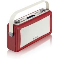 View Quest Hepburn DAB+ Radio Bluetooth 3,5mm Aux-In retro Smartphone iphone rot – Bild 4