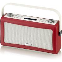 View Quest Hepburn DAB+ Radio Bluetooth 3,5mm Aux-In retro Smartphone iphone rot – Bild 5