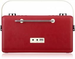 View Quest Hepburn DAB+ Radio Bluetooth 3,5mm Aux-In retro Smartphone iphone rot – Bild 6