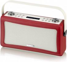 View Quest Hepburn DAB+ Radio Bluetooth 3,5mm Aux-In retro Smartphone iphone rot – Bild 8
