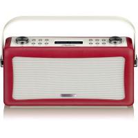 View Quest Hepburn DAB+ Radio Bluetooth 3,5mm Aux-In retro Smartphone iphone rot – Bild 9