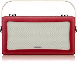 View Quest Hepburn DAB+ Radio Bluetooth 3,5mm Aux-In retro Smartphone iphone rot – Bild 1