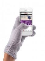 Mujjo Touchscreen Gloves Handschuh iPhone Smartphone lavendel (S/M) Silber-Garn