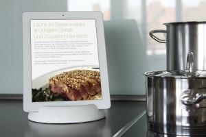 halopad Ständer Halter Stand iPad Tablets Samsung Microsoft Acer Kindle weiß – Bild 1
