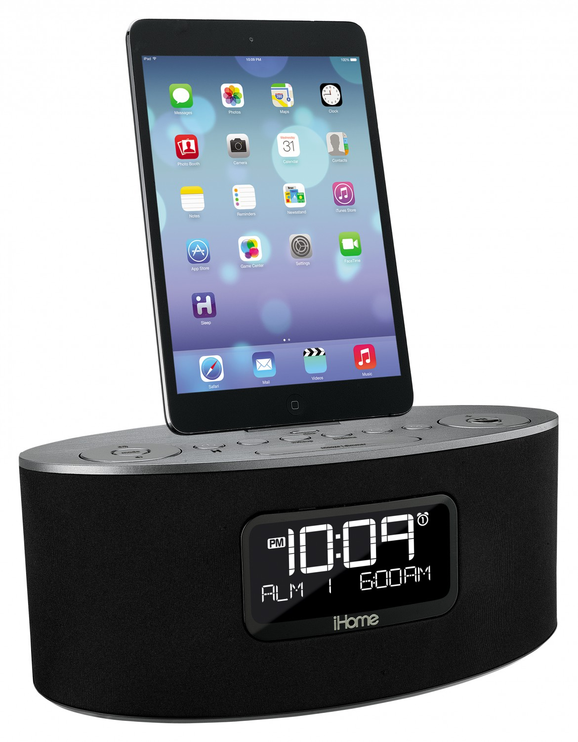 ihome idl46 dual ladestation fm radio wecker lightning usb iphone ipad ipod ebay. Black Bedroom Furniture Sets. Home Design Ideas