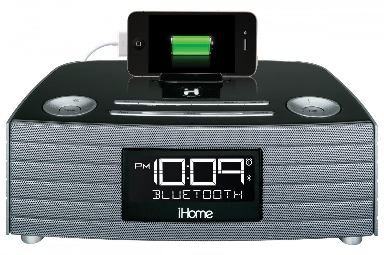 Ihome ibn97 nfc bluetooth soundsystem radio wecker usb for Beistelltisch usb