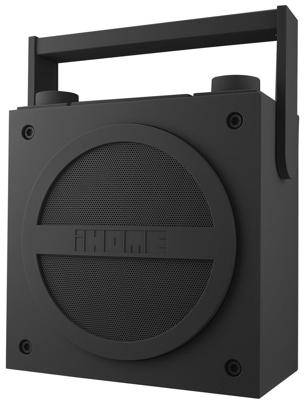 b ware ihome ibt4 bluetooth boombox fm radio wiederaufladbar gummiert grau ebay. Black Bedroom Furniture Sets. Home Design Ideas