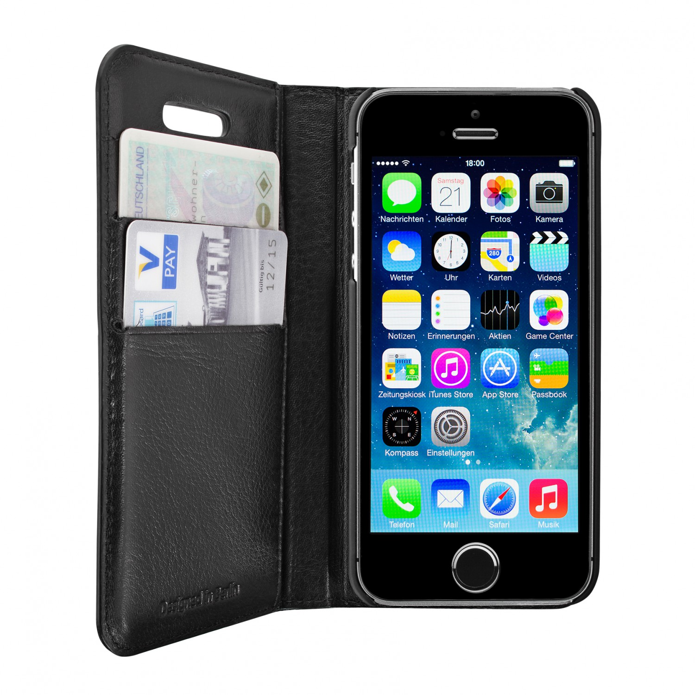 artwizz wallet lederetui mit kartenf chern f r iphone se. Black Bedroom Furniture Sets. Home Design Ideas
