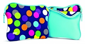 "BUILT Reversible Laptop Sleeve für MacBook Pro 13"" Scatter Dot - Scuba Blue"