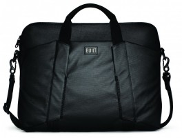 BUILT City Collection Slim Laptop Bag, Black – Bild 1