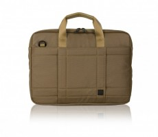 Knomo Brixton LINCOLN 13 Zoll, iPad Pro, X-Slim Brief coated canvas, Army – Bild 1