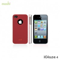 Moshi iGlaze 4: Snap-On Case für iPhone 4, 4S rot – Bild 1