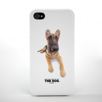 Qual THE DOG German Shepherd, iPhone 4/4S Rückseiten-Clip & Bildschirmschutz