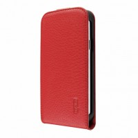 Artwizz SeeJacket Leather FLIP+ Schutzhülle für Samsung Galaxy S4 mini - elegantes Etui aus echtem Leder mit komfortablen Magnetverschluss - Business-Case designed in Berlin - rot 1424-SJLF+S4MR – Bild 3