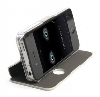 Eyes for iPhone 4 / 4S, Case & free App, Silver – Bild 3
