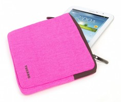 "Fluo Universal Cotton Sleve for iPad mini and Tablets 7"" - 8"", fuchsia – Bild 3"