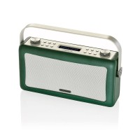 View Quest Hepburn DAB+ FM Digital Radio Wecker Bluetooth Retro iPhone Android smaragdgrün – Bild 2