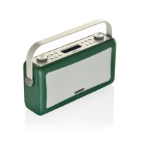View Quest Hepburn DAB+ FM Digital Radio Wecker Bluetooth Retro iPhone Android smaragdgrün – Bild 3
