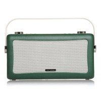 View Quest Hepburn DAB+ FM Digital Radio Wecker Bluetooth Retro iPhone Android smaragdgrün – Bild 1