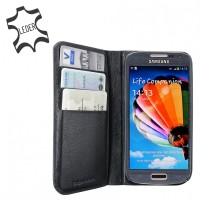 Artwizz Wallet Leder Schutzhülle Etui Portemonaie for Samsung Galaxy S4 mini, black – Bild 3