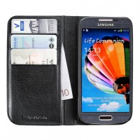 Artwizz Wallet Leder Schutzhülle Etui Portemonaie for Samsung Galaxy S4 mini, black – Bild 1