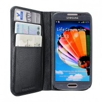 Artwizz Wallet Leder Schutzhülle Etui Portemonaie for Samsung Galaxy S4 mini, black – Bild 2