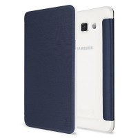 Artwizz SmartJacket für Samsung Galaxy A7 2015 - federleichte Schutzhülle mit Front-Cover & Rückseiten-Clip mit Metall-Optik & Soft-Touch-Beschichtung - Case designed in Berlin - navy blau 6696-1435 – Bild 6