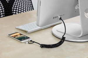Just Mobile AluCable Duo twist, 2-in1-Wendelkabel mit Lightning- und Micro-USB-Anschluss, 1,5m – Bild 4