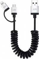 Just Mobile AluCable Duo twist, 2-in1-Wendelkabel mit Lightning- und Micro-USB-Anschluss, 1,5m – Bild 1
