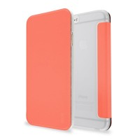 Artwizz SmartJacket für iPhone 6 6s - federleichte Schutzhülle mit Front-Cover & Rückseiten-Clip mit Metall-Optik & Soft-Touch-Beschichtung - Case designed in Berlin - Apricot orange - 8850-1652 – Bild 1