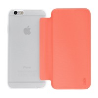 Artwizz SmartJacket für iPhone 6 6s - federleichte Schutzhülle mit Front-Cover & Rückseiten-Clip mit Metall-Optik & Soft-Touch-Beschichtung - Case designed in Berlin - Apricot orange - 8850-1652 – Bild 6