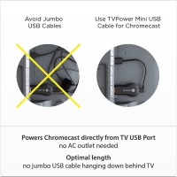 Mission Cables TVPower micro USB Power Cable Stromkabel für Chromecast 17 cm  – Bild 2