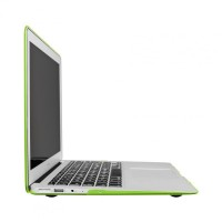 Artwizz Rubber Clip Schutzhülle Case Cover Tasche Feather MacBook Air 11, green B-Ware – Bild 3