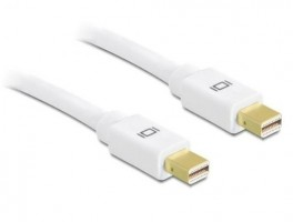 Delock 4K mini Displayport Kabel 1:1 mini DP zu mini DP Stecker 0,5m Audio Video