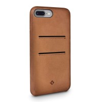 Twelve South Relaxed Leather Clip, with pockets, for iPhone 7, cognac – Bild 2
