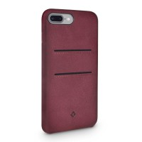 Twelve South Relaxed Leather Clip, with pockets, for iPhone 7, marsala