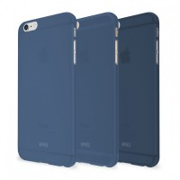 Artwizz Rubber Clip Schutz Case Hülle Soft Touch dünn iPhone 6 navy B-Ware