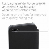 Artwizz SmartJacket für iPhone 5 5s SE - Schutzhülle mit Front-Cover & Rückseiten-Clip mit edler Metall-Optik & Soft-Touch-Beschichtung - Case designed in Berlin - titan-grau - 2315-SJ-P5S-TN B-Ware – Bild 8