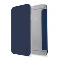 Artwizz SmartJacket für iPhone 6 6s - federleichte Schutzhülle mit Front-Cover & Rückseiten-Clip mit Metall-Optik & Soft-Touch-Beschichtung - Case designed in Berlin - navy blau - 6344-1394 B-Ware – Bild 1