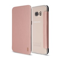 Artwizz SmartJacket für Samsung Galaxy S7 edge - Schutzhülle mit Front-Cover & Rückseiten-Clip mit Metall-Optik & Soft-Touch-Beschichtung - Case designed in Berlin - rosé-gold - 9826-1750 B-Ware – Bild 1