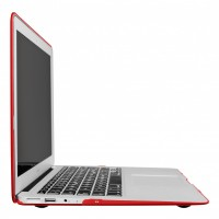 Artwizz Rubber Clip for Macbook Air 13, red transluzenter Rundumschutz B-Ware – Bild 3