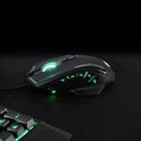 PORT DESIGNS GAMING MOUSE AROKH X-3 - 12 BUTTONS 8200 DPI - GN – Bild 1