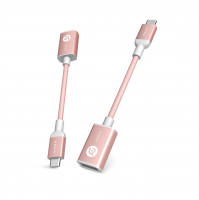 Adam Elements CASA F13 – USB-C to USB-A Daten Adapter, Rose Gold – Bild 1