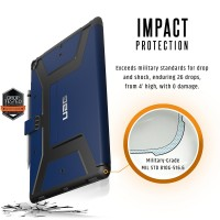 Urban Armor Gear Metropolis Case (2. Gen ) for iPad Pro 12.9 -Cobalt/Silver Logo/Black – Bild 3