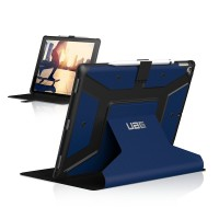 Urban Armor Gear Metropolis Case (2. Gen ) for iPad Pro 12.9 -Cobalt/Silver Logo/Black – Bild 4