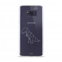 Artwizz NoCase Design Schutzhülle für Galaxy S8 - Ultra-dünne Hülle aus elastischem TPU - limitierte Designedition mit stylischen Polygon-Motiv - Galaxy S8 Case designed in Berlin - T-Rex - 5949-2157 – Bild 2